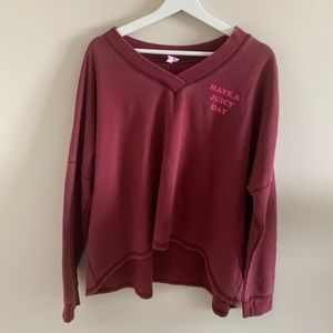 🌺🌸🌼 Juicy Couture V-Neck Sweater Red/Pink